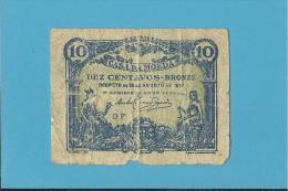 CÉDULA De 10 CENTAVOS - SÉRIE DF - CASA DA MOEDA - PORTUGAL - EMERGENCY PAPER MONEY - NOTGELD - Portugal