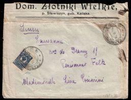 POLAND / At Russian Empire 1914 Cover STAWISZYN Gub. Kaliska Dom Zlotniki Wielkie - ....-1919 Provisional Government
