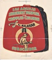 1950´s Decal (autocollant)  LOS  ANGELES  SHRINER'S - Stickers