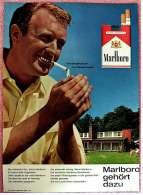 Reklame Werbeanzeige  -  Marlboro  -  Unvergleichbar Im Geschmack  -  Marlboro Gehört Dazu  -  Von 1965 - Literatur