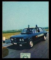 FIAMMIFERI LUNGHI CARABINIERI CONTROLLO DEL TERRITORIO IN AUTO (ALFA ROMEO) & MOTO - Scatole Di Fiammiferi