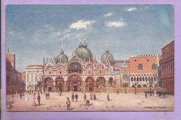 """ITALIE - VENICE, St. Mark's - Carte """"Oilette"""" - TUCK - Verso Scanné - Venezia (Venice)"""