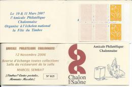 Carnet Privé A.P.C. Chalon Sur Saône - Bouese D'échange - Carnets