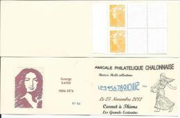 Carnet Privé A.P.C. Chalon Sur Saône 2012 - Carnet à Théme Grands Ecrivains -George SAND - Carnets