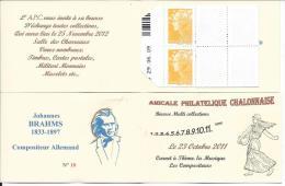 Carnet Privé A.P.C. Chalon Sur Saône 2012 - Carnet à Théme -Compositeur  Johannes BRAHMS - Carnets