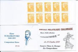 Carnet Privé A.P.C. Chalon Sur Saône 2012 - Carnet à Théme -Compositeur Piotr TCHAÏKOVSKI - Carnets