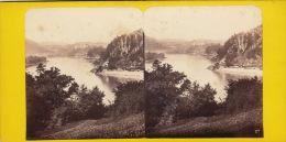 Photo Stereo Autriche Le Danube Au Dessus De Grein Donau Poto A.C. - Photos Stéréoscopiques