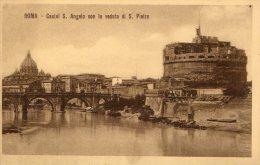 [DC6653] ROMA - CASTEL S. ANGELO CON LA VEDUTA DI S. PIETRO - Old Postcard - Castel Sant'Angelo