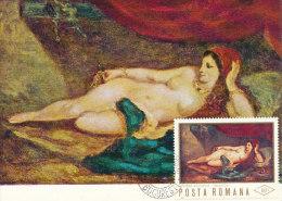 D14566 CARTE MAXIMUM CARD 1967 ROMANIA - NUDE WOMAN BY DELACROIX CP ORIGINAL - Nudes
