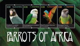 gam1123sh Gambia 2011 Birds Parrots of Africa s/s