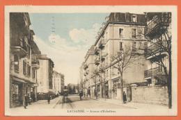 FEL974, Lausanne , Avenue D' Echallens, LEB, Lausanne -Echallens-Bercher, Train, Animée, Circulée 1925 - VD Vaud