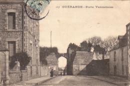 Thematiques 44 Loire Atlantique Guérande Porte Vannetaise Ecrite Timbrée - Guérande