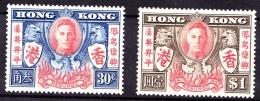 Hongkong, 1946, SG 169 - 170, Mint Very Lightly Hinged - Hong Kong (...-1997)