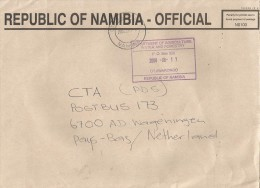 Namibia 2008 Otjiwarongo Unfranked Official Paid Cover - Namibië (1990- ...)