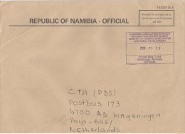 Namibia 2009 Windhoek Unfranked Official Paid Cover - Namibië (1990- ...)