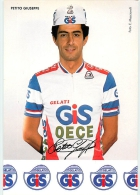 Giuseppe PETITO - Equipe Sportive CYCLISME Gelati GIS - Autographe Imprimé - 2 Scans - Ciclismo
