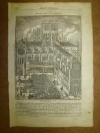 27 Mars.1834  MAGASIN UNIVERSEL: Saint-Paul(LONDRES);J.Hardouin;Pôle Nord Et HECLA Et GRIPER ;Ghotique;Soldats Dragons - Kranten