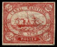 ~~~ Egypt 1868 - Canal De Suez - Mi. 4 (*)  Type A (Broken T MARITIME - Oblique Lines Under SUEZ) - CV 200.00 Euro ~~~ - 1866-1914 Khedivaat Egypte