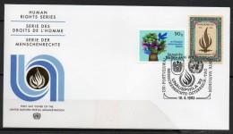 Nations-Unies (Vienne) - FDC - 1993 - Yvert N° 1 & 87 - FDC