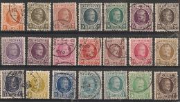 Nrs 190/210 Houyoux Gestp/oblit - 1922-1927 Houyoux