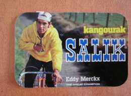 EDDY MERCKX    Cyclisme   Autocollant    Sticker  Publicité SALIK KANGOURAK Année 70 - Cyclisme