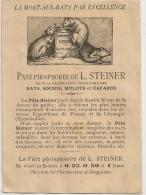 Publicité LUX LUXURIA SOINS MEUBLE Et MORT AUX RATS L.STEINER - Advertising