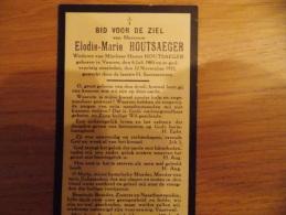 Doodsprentje Elodie-Marie Houtsaeger Veurne 6/7/1865 - 12/11/1935 ( Hector Houtsaegher) - Religion & Esotérisme