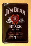 Plaque Métallique Publicitaire Décorative Bombée - WHISKY BOURBON JIM BEAM - ALCOOL / ALCOHOOL - Plaques Publicitaires