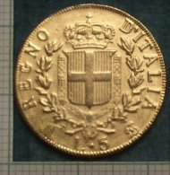 M_p> CURIOSITA´ Gettone / Riproduzione Vittorio Emanuele II 5 Lire 1861 Milano - Dimensioni Ridotte E Magnetico - Italia