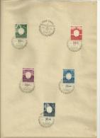 105-109 Auf Blatt Mit Sonderstempel 5 Jahre Generalgouvernement - 1939-44: 2. WK
