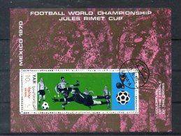 YEMEN. BF 163 (catalogue Michel) Oblitéré De 1970. Coupe Du Monde De Football 1970. - 1970 – Mexico