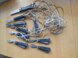 BELGE - BELGIQUE - CONGO - AFRIQUE - ZAIRE - LOT DE 9 CANIFS - Knives/Swords
