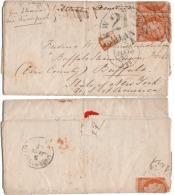 N° 5 Paire à Cheval / Bord - Obl. Grille Sans Fin De Paris 1852 - Cote > 2000 Euros - 1849-1850 Cérès