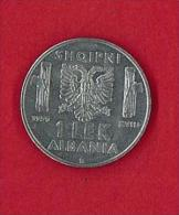 NUMISMATICA - ALBANIA - 1 LEK - ANNO 1939 - SPL/FDC - ACMONITAL - MAGNETICA - VITTORIO EMANUELE III° - Albanie