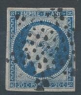 Lot N°23822  N°14A, Oblit  étoile Muette - 1853-1860 Napoleone III