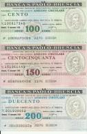 D 004 - 3 VALORI - BANCA S. PAOLO BRESCIA - [10] Assegni E Miniassegni
