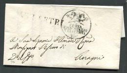 1820  RARA  PREFILATELICA  DA  VELLETRI   X   ANAGNI  VITERBO INTERESSANTE DOCUMENTO STORICO - Italia