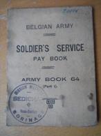BELGE - BELGIQUE - WW2  - PAYBOOK MISSION MILITAIRE SEDICHAR BORINAGE - RARE - 1939-45