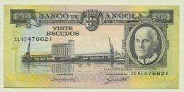 20 Escudos Angola-Portugal 1962 Américo Tomás UNC - Angola