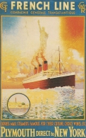 CPA-1980-PAQUEBOT PARIS-COPIE AFFICHE 1939-FRENCH LINE-CGT-PLYMOUTH-NEW YORK-TBE - Dampfer