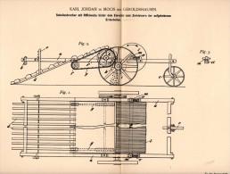 Original Patentschrift - Karl Jordan In Moos B. Geroldshausen , 1894, Schollenbrechen Für Landwirtschaft , Agrar , Pflug - Maschinen