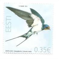 ESTONIA 2011 - Bird Of The Year - Barn Swallow MNH - Estland