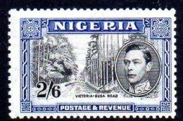 Nigeria GVI 1938 2/6d Definitive, Perf. 13x11½, Lightly Hinged Mint (A) - Nigeria (...-1960)