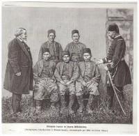 GRAVURE D Epoque 1877 Turquie  TURQUIE  BLESSERS TURCS  ET MEDECINS Armée Soldat  Guerre Russo Turque - Non Classés