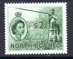 North Borneo QEII 1954 $2 Deep Green Definitive, Hinged Mint (A) - North Borneo (...-1963)