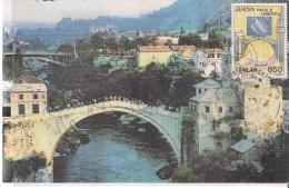 """Sarajevo - Il Ponte Di Mostar Costruito Dai Turchi Nel 1556   """"MAXIMUM  CARD"""" - Cartoline"""