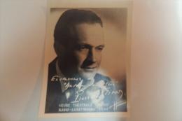 PHOTOGRAPHIE DE PIERRE FRESNAY / HEURES THEATRALES CINZANO RADIO LUXEMBOURG 1949 - Identifizierten Personen