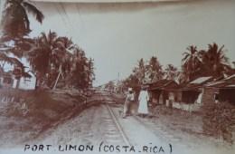PORT LIMON COSTA RICA CARTE PHOTO N° 6  Village Le Long De La Voie Ferrée - Costa Rica