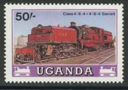 Uganda 1988 Mi 575 ** Class 59 Garret Steam Locomotive (1955) / Garratt-Dampflokomotive Class 4-8-4+4-8-4 - Treinen