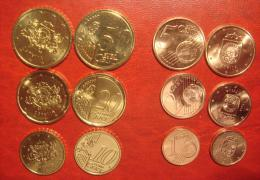 Latvia / Lettonia / Lettland   2014 EURO COIN   1; 2 ;5 ;10 ; 20 ;  50  Euro CENT  FROM Bank Roll - UNC - Lettland